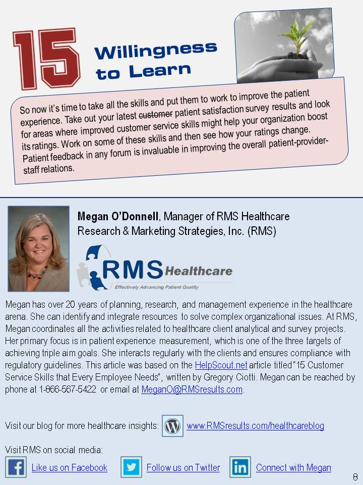3 Skills Needed to Succeed in Healthcare RMS RMS